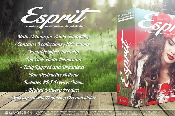Actions for Photoshop / Esprit