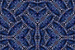 Modern Orante Seamless Pattern Design
