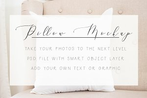 Pillow Mockup - Smart Object Layer