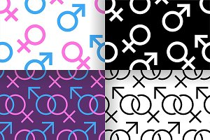 Gender seamless pattern