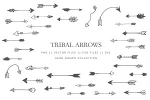 Tribal arrows hand drawn