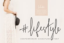 #lifestyle | SIGNATURE SCRIPT FONT by  in Fonts