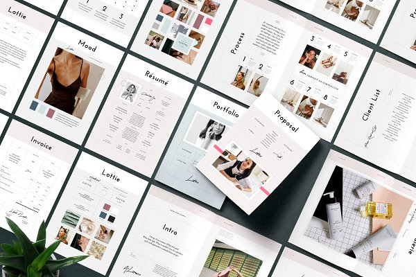Brochure Templates: Studio Standard - Lottie Pitch Pack