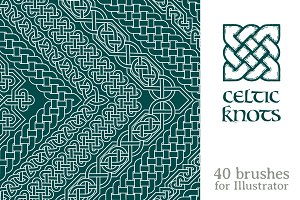 Celtic knots brushes