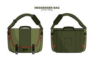 Laptop Messenger Bag Vector