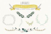 Laurel Wreath Branches & Frames