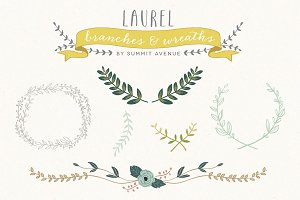 Laurel Wreath Branches & Frames