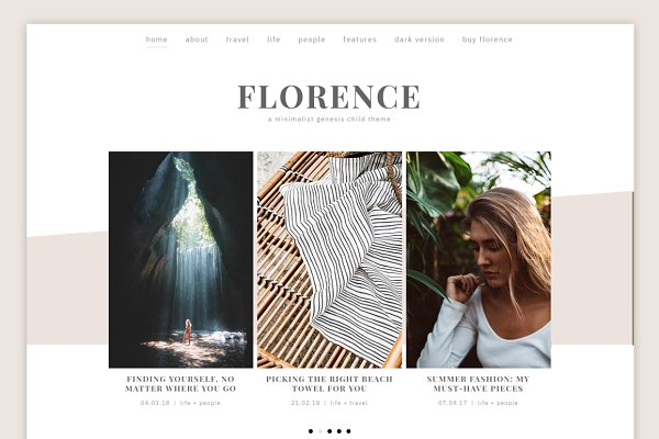 WordPress Themes: Code + Coconut - Florence Theme (Light) • Genesis