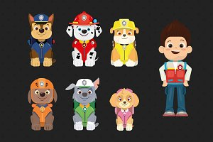 Cute Paw Patrol dogs