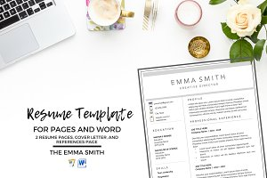 Resume Template, CV + Cover Letter
