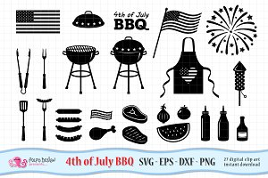 4th of July Barbecue SVG