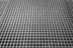 Black and white grid ventilation texture background