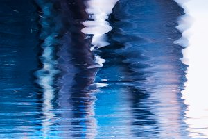 Dramatic water reflections background