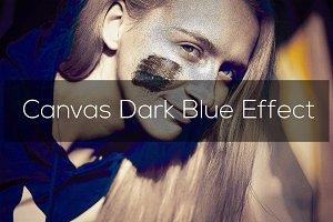 Canvas Dark Blue Effect