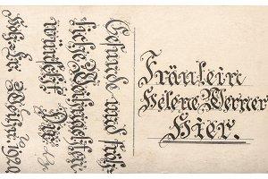 Old postcard handwritten text