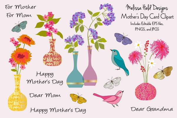 Mother's Day Card Clipart