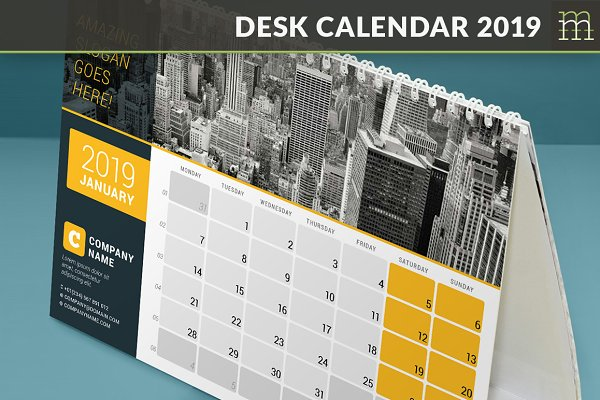Desk Calendar 2019 (DC029-19)