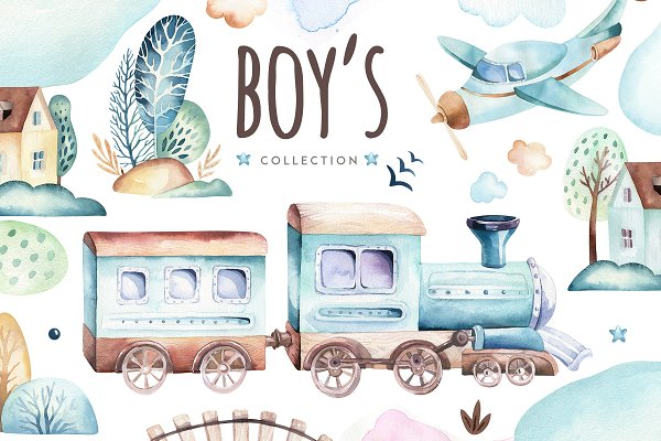 Boy's world.  It's a boy collection…