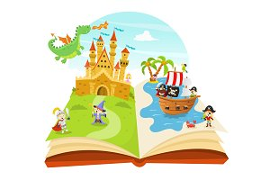 Fairy Tale Pop Up Book Illustration