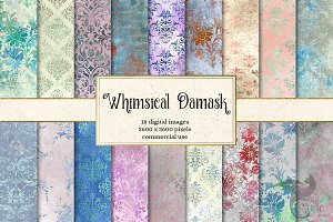 Whimsical Damask Digital Paper