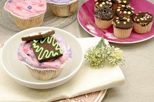 cupcakes con galleta