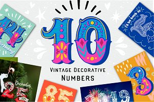 50% Off! Vintage Decorative Numbers