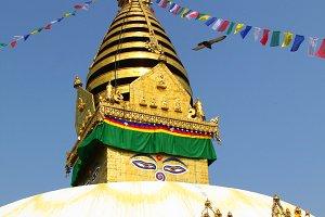 Stupa temple in Kathmandu, Nepal