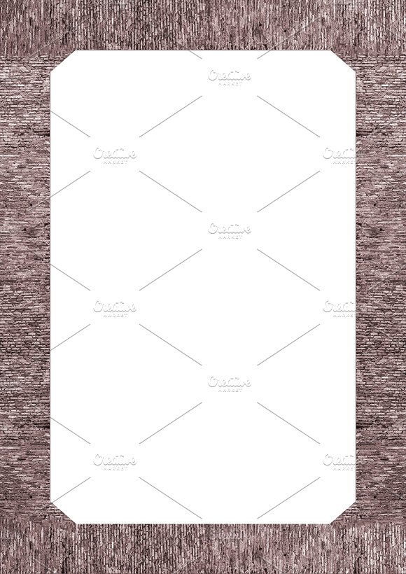 Blank Portrait Frame with Brickwall Borders ~ Illustrations ...