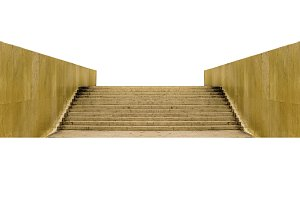 Perspective View Stairs Isolated Photo