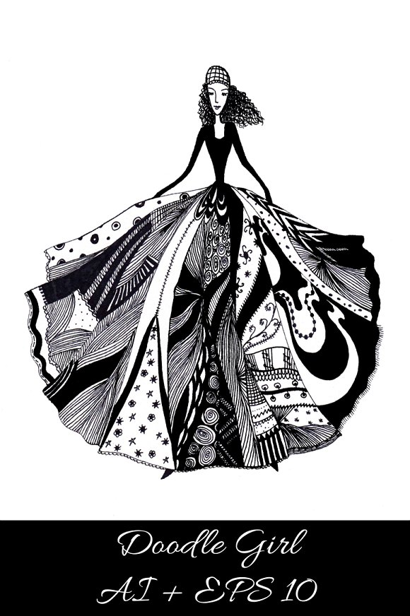 Abstract girl. Vector illustration. - Illustrations