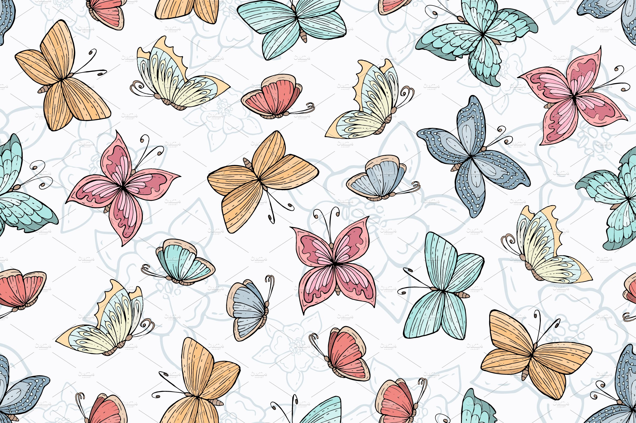 Butterfly Pattern Unique Decorating Design