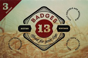 13 Retro Signs or Badges v.3