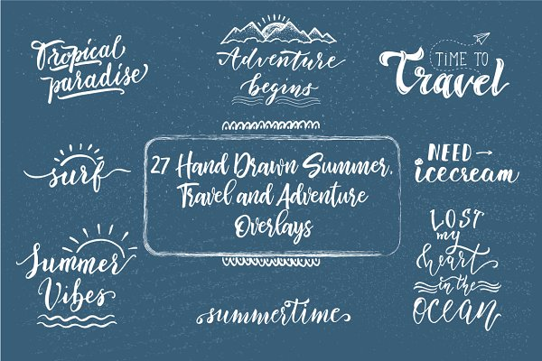 Summer Overlays and lettering