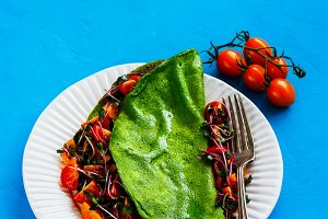 Green spinach omelette
