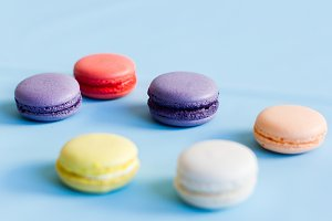 Different colored macarons