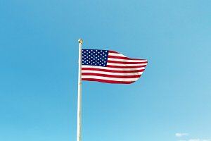 USA flag on the mast