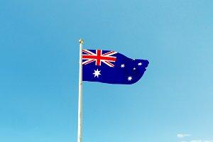 Australia flag on the mast