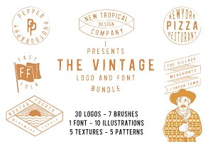 The vintage logo & font super bundle
