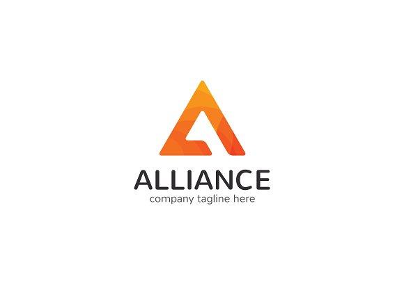 Alliance letter a logo logo templates on creative market for Template logo
