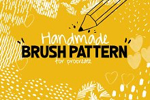 Handmade Brush Pattern - Procreate by  in Add-Ons