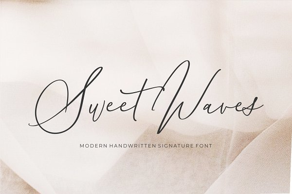 Fonts: Union Hands - Sweet Waves - Luxury Handwritten