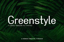 Greenstyle - Casual Handcrafted Font
