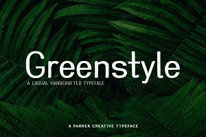 Greenstyle Casual Handcrafted Font