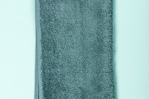Towel on blue background