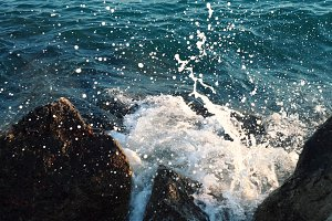 Sea splashes.