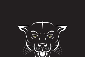 Vector of an angry panther head.