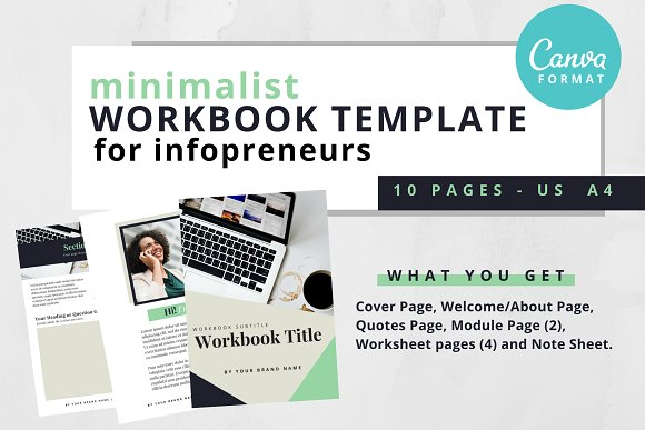 canva workbook template minimalist website templates creative