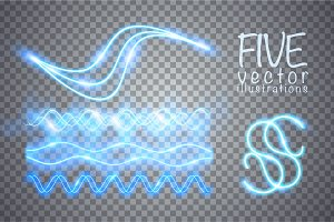 Neon blurry lines