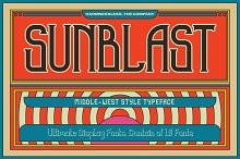 Sunblast Display Typeface by  in Display Fonts