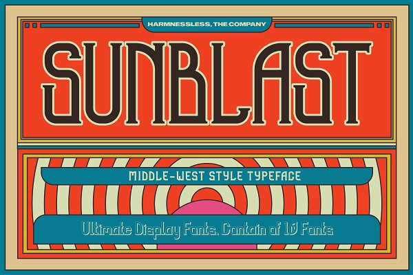 Display Fonts - Sunblast Display Typeface